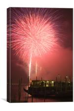 Fireworks in Venice, Canvas Print