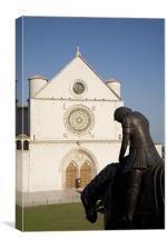 Basilica di San Francesco, Assisi, Italy, Canvas Print
