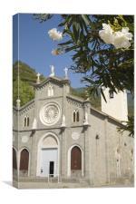 The church of San Giovanni Battista, Riomaggiore, Canvas Print