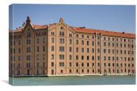 G Stucky Hilton Molino hotel in Venice, Italy., Canvas Print