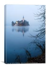 Misty Lake Bled, Canvas Print