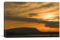 Sunset over Sligo Bay, Canvas Print