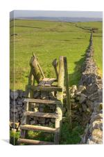 The peak district near Castleton, Canvas Print