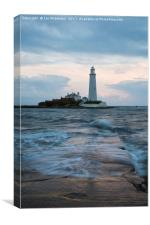 Saint Mary's Lighthouse at Whitley Bay, Canvas Print