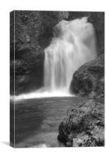 Sum Waterfall in Vintgar Gorge, Canvas Print