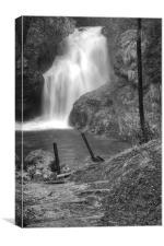 Sum Waterfall in Vintgar Gorge, near Bled, Sloveni, Canvas Print