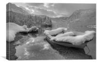 Lake Bohinj in Winter, Slovenia, Canvas Print