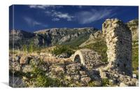 Fortress Funa ruins, Canvas Print