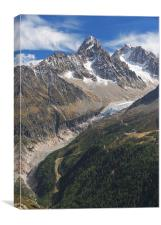 Beautiful day in Alps, Canvas Print