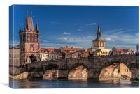 Sunny day in Prague, Canvas Print