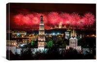 Fireworks over Vorobievy Gory, Canvas Print