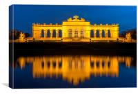 Gloriette at night, Canvas Print