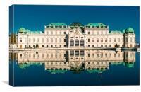 Belvedere, Vienna, Canvas Print