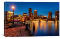 Boston harbor evening view, Canvas Print