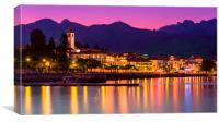 Evening in Baveno, Canvas Print