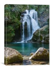 Sum Waterfall in Slovenia, Canvas Print