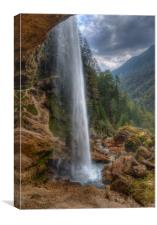 Pericnik waterfall in Slovenia, Canvas Print