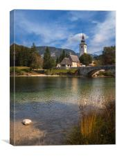 Nice day on the lake Bohinj, Canvas Print