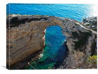 Tripitos Arch Paxos Greece, Canvas Print