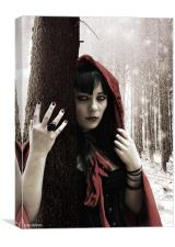 miss red riding hood, Canvas Print