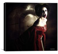 Your blood is mine, Canvas Print