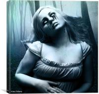 so a vampire can cry, Canvas Print