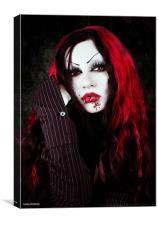 a vampires portrait, Canvas Print