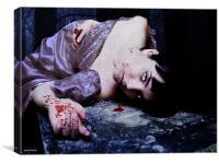 the last vampire, Canvas Print