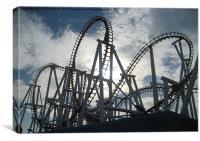 roller coaster, Canvas Print