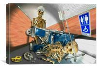 skeletons hospital, Canvas Print