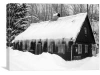Winter art, Canvas Print