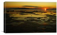 cardurnock sunset, Canvas Print