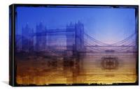 Bridge tower, Canvas Print
