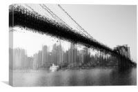 Bridge abstraction, Canvas Print