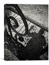 Iron fence, Canvas Print