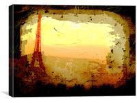 Eifel tower, Canvas Print