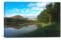 Bowdenmoor lake, Canvas Print