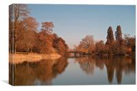 Lake and Adam Bridge at Compton Verney, Canvas Print