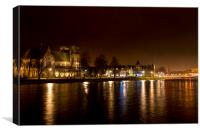 Inverness after dark, Canvas Print