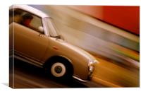 Nissan Figaro Car Motion Abstract, Canvas Print