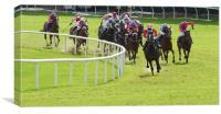 Galway Races Final Bend, Canvas Print