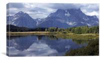 teton lake, Canvas Print