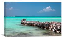 caribbean sea , mexico, Canvas Print