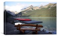 morning lake louise 2, Canvas Print