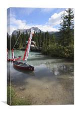 emerald lake vertial canada, Canvas Print