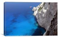 cliffs in zakynthos island,greece, Canvas Print