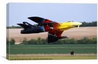 Hawker Hunter Miss Demeanour, Canvas Print