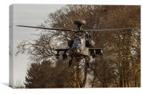 Boeing AH64 Apache attack helicopter, Canvas Print