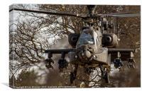 AH64 Apache up close, Canvas Print