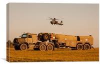 Oshkosh refueller and AH64 Apache